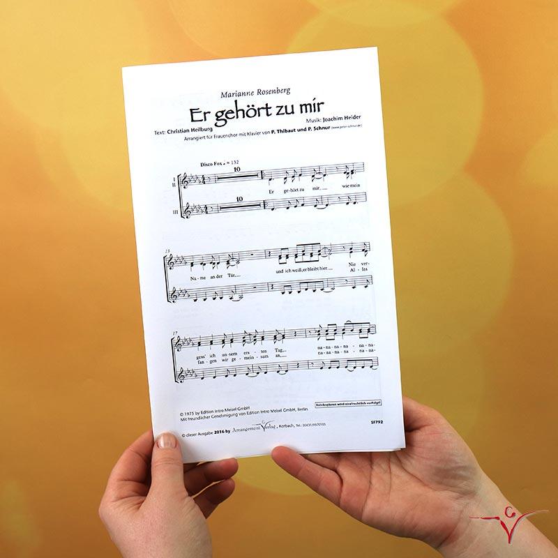 Chornoten: Er gehört zu mir (vierstimmig)