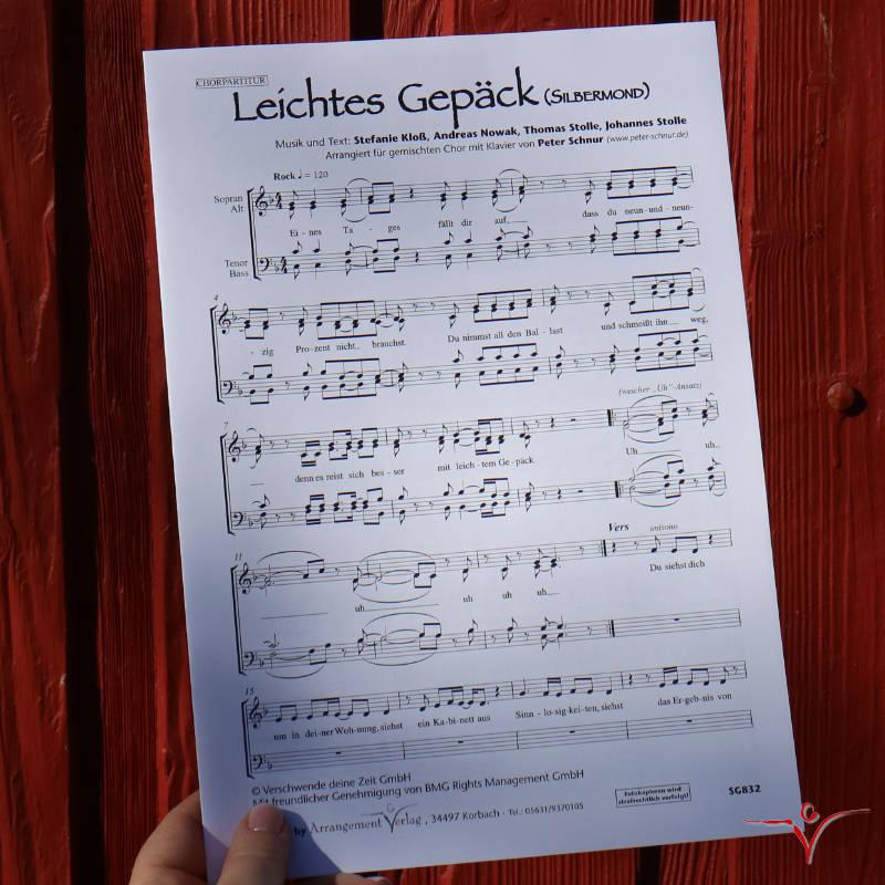 Chornoten: Leichtes Gepäck (vierstimmig)