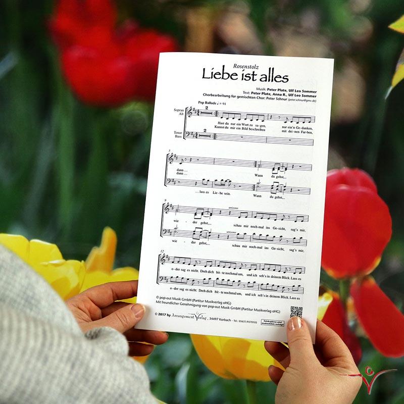 Chornoten: Liebe ist alles (vierstimmig)
