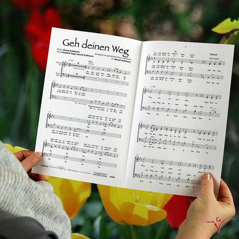 Chornoten: Geh deinen Weg (vierstimmig)