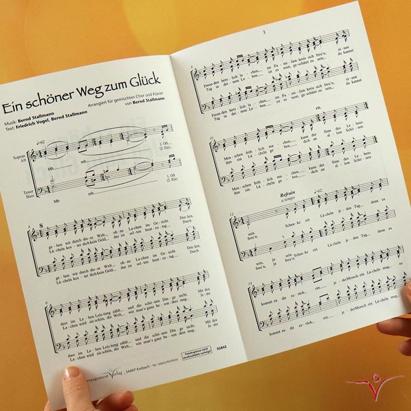 Chornoten: Ein schöner Weg zum Glück (vierstimmig)