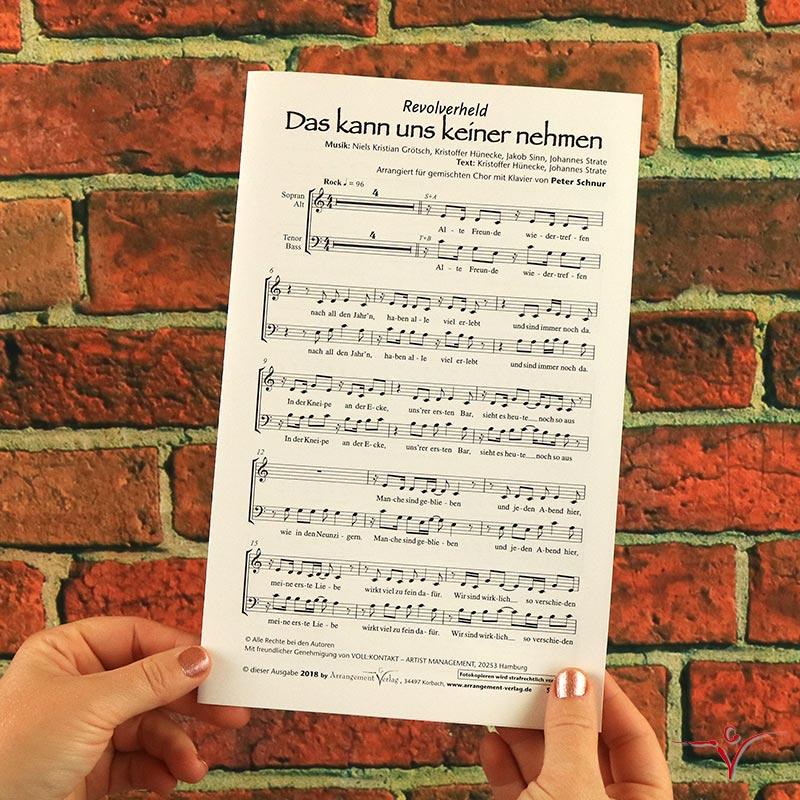 Chornoten: Das kann uns keiner nehmen (vierstimmig)