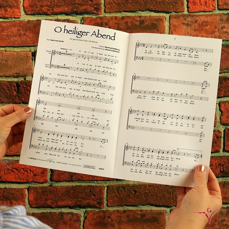 Chornoten: O heiliger Abend (vierstimmig)