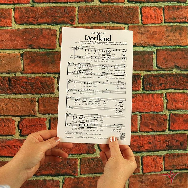 Chornoten: Dorfkind (vierstimmig)