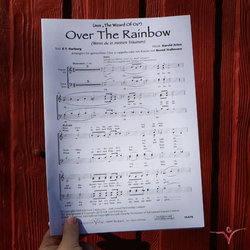 Chornoten: Over the rainbow (Wenn du in meinen Träumen)