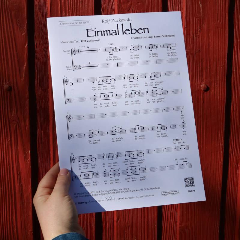 Chornoten: Einmal leben (vierstimmig)