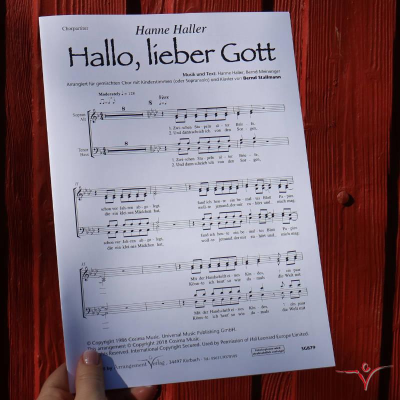 Chornoten: Hallo, lieber Gott (vierstimmig)