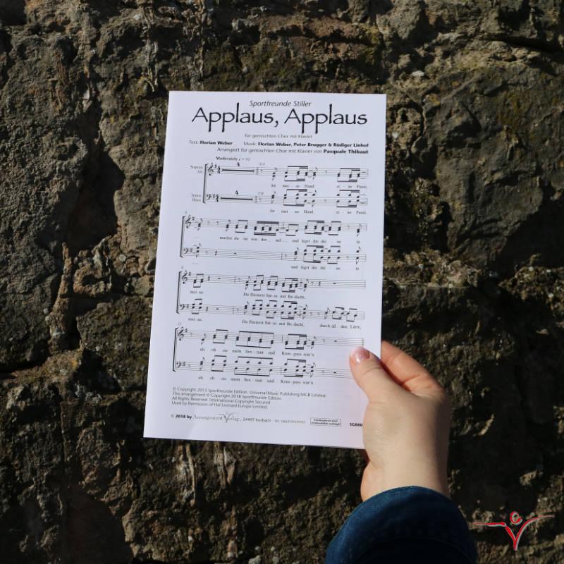Chornoten: Applaus, Applaus (vierstimmig)