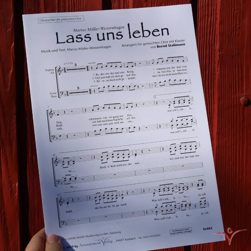 Chornoten: Lass uns leben (vierstimmig)