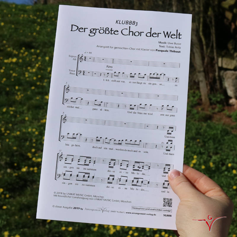 Chornoten: Der größte Chor der Welt (vierstimmig)