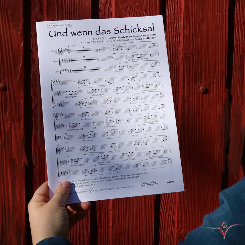 Chornoten: Und wenn das Schicksal (vierstimmig)