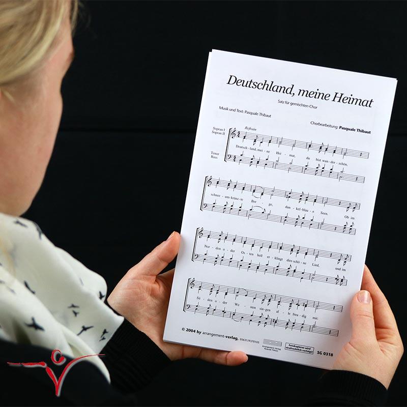 Chornoten: Deutschland, meine Heimat (vierstimmig)