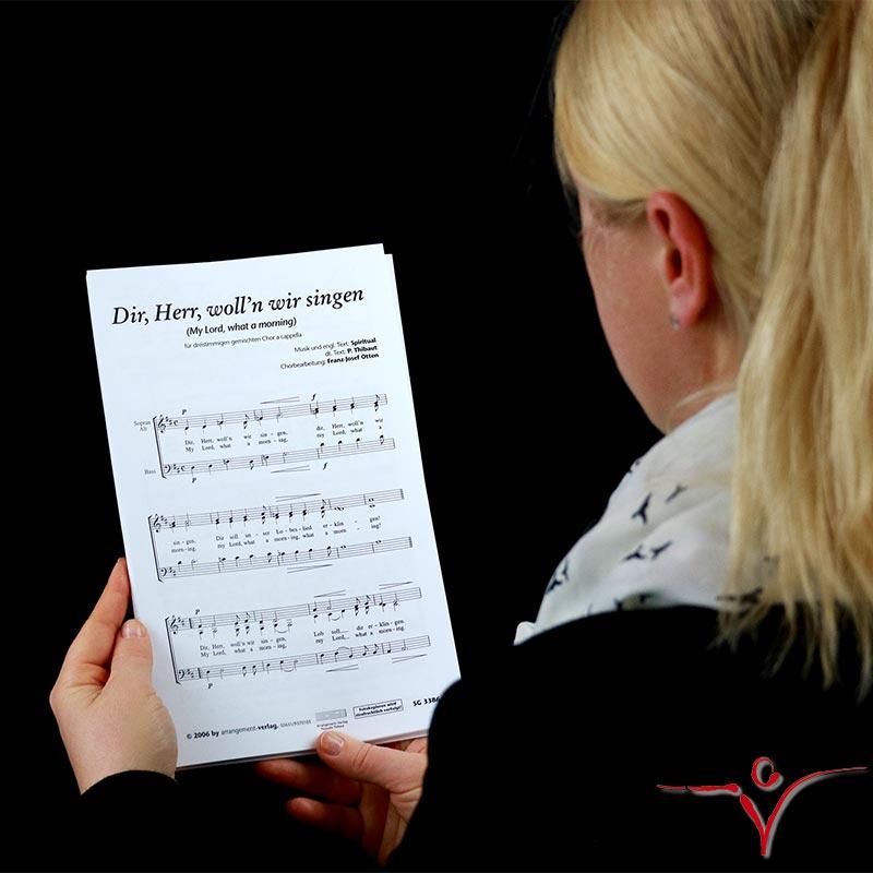 Chornoten: Dir, Herr, woll'n wir singen (dreistimmig)