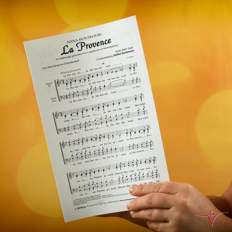 Chornoten: La Provence (dreistimmig)