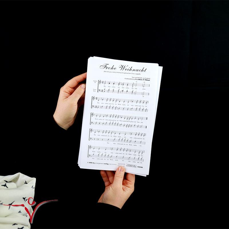 Chornoten: Wir wünschen euch frohe Weihnacht (vierstimmig)