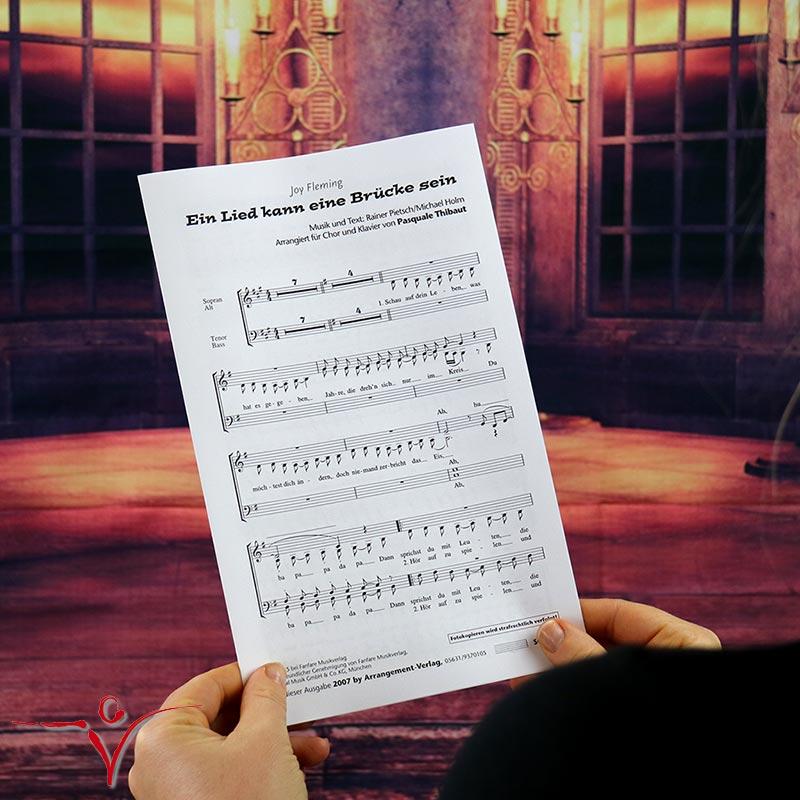 Chornoten: Ein Lied kann eine Brücke sein (vierstimmig)