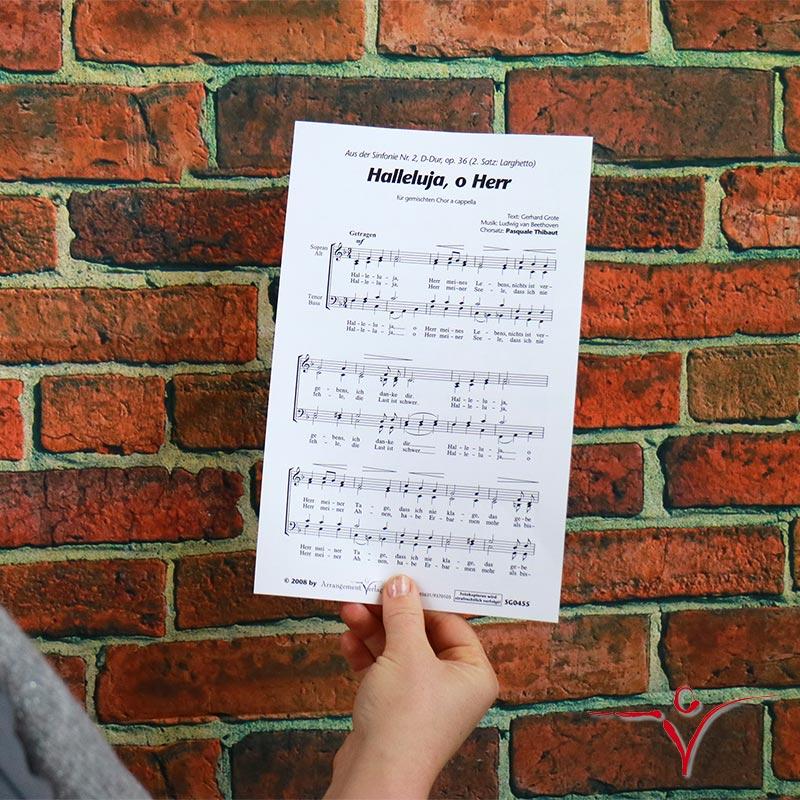 Chornoten: Halleluja, o Herr