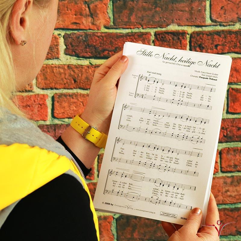 Chornoten: Stille Nacht, heilige Nacht (vierstimmig)