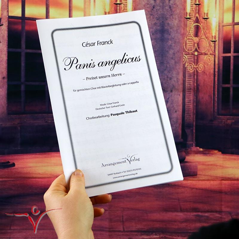 Chornoten: Panis angelicus/Preiset unsern Herrn (vierstimmig)
