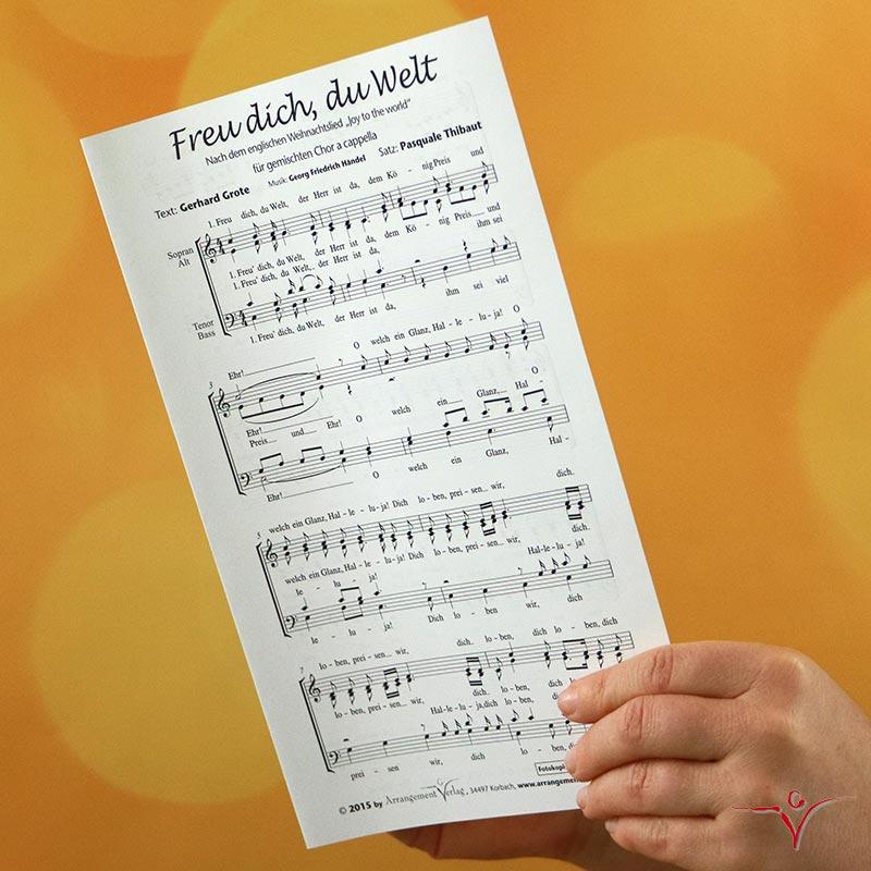 Chornoten: Freu dich, du Welt (vierstimmig)