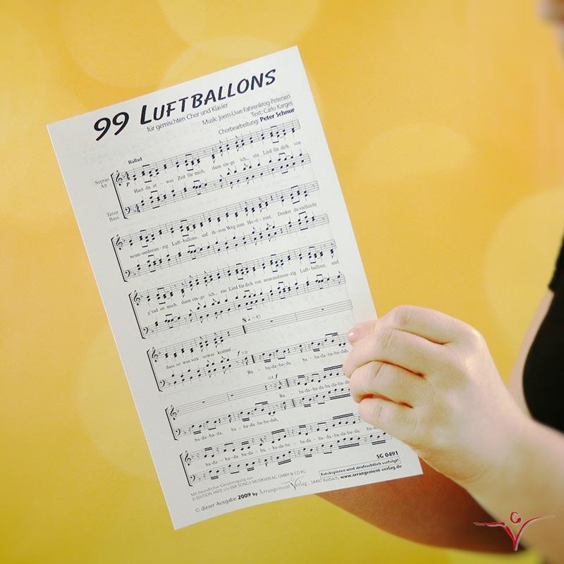 Chornoten: 99 Luftballons (vierstimmig)