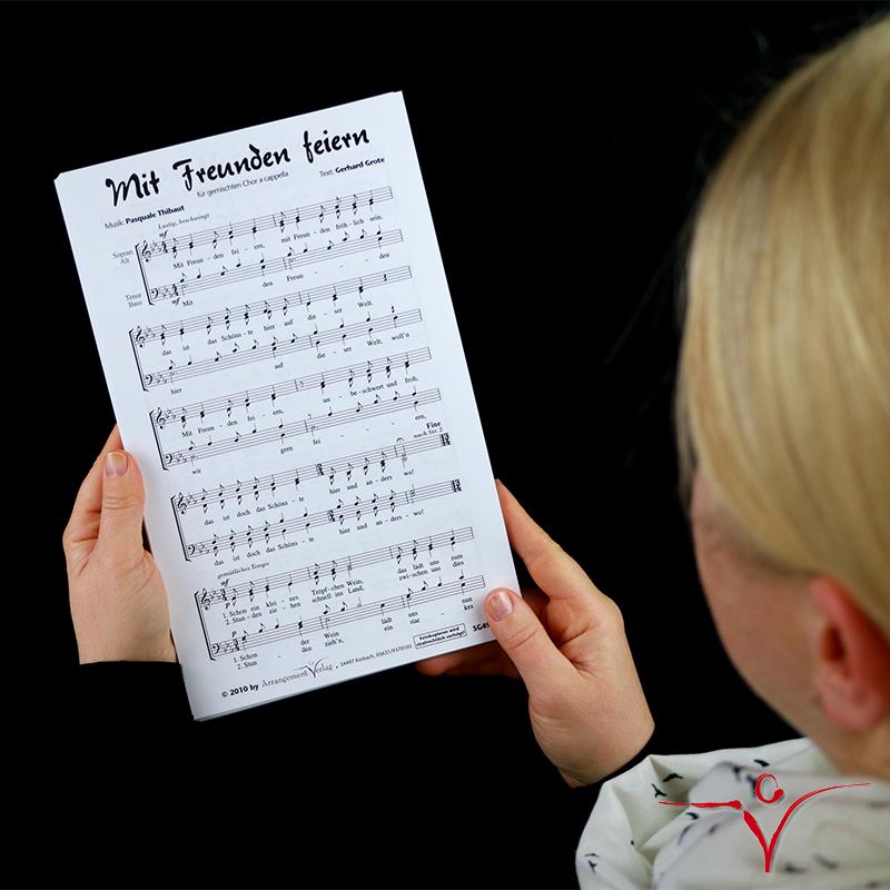 Chornoten: Mit Freunden feiern (vierstimmig)