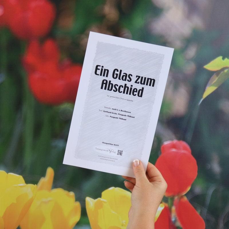 Chornoten: Ein Glas zum Abschied (vierstimmig)