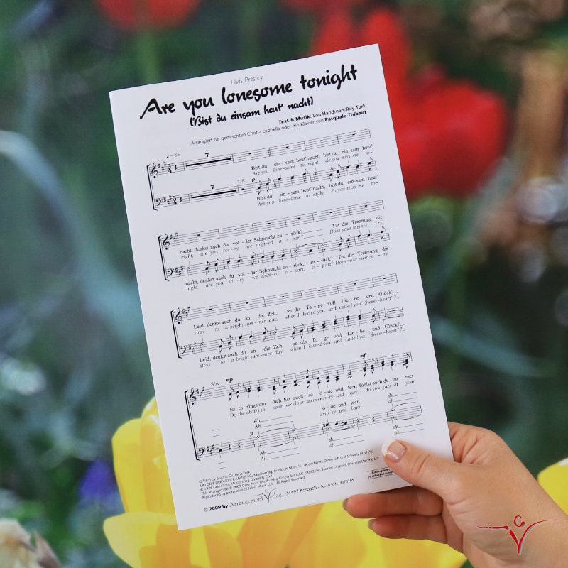 Chornoten: Bist du einsam heut nacht (vierstimmig)