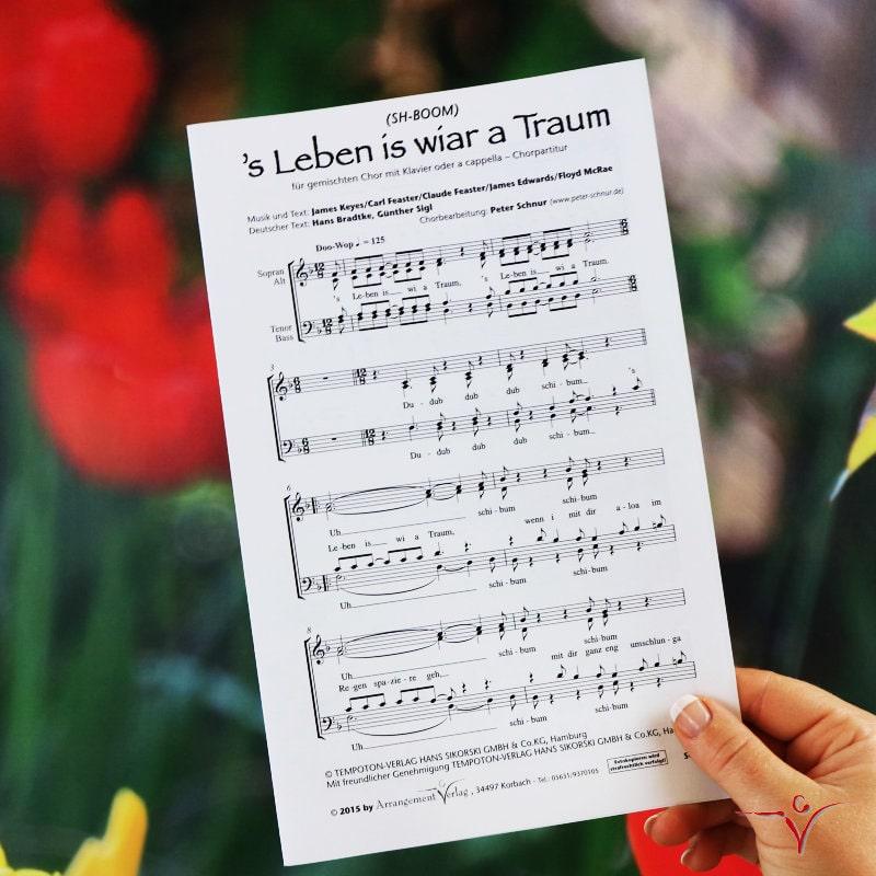 Chornoten: S Leben is wia Traum (vierstimmig)