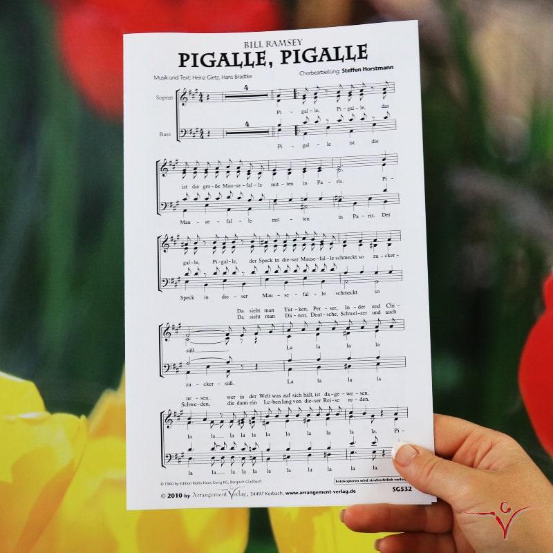 Chornoten: Pigalle, Pigalle (vierstimmig)