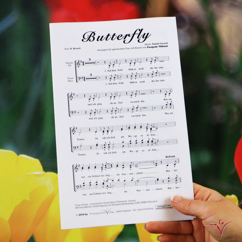 Chornoten: Butterfly (vierstimmig)