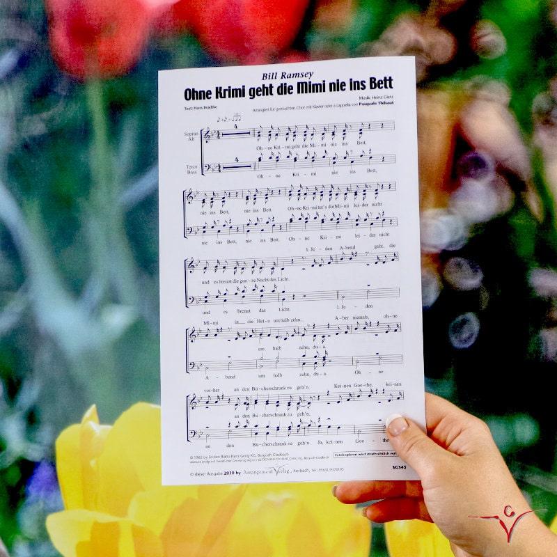 Chornoten: Ohne Krimi geht die Mimi nie ins Bett (vierstimmig)