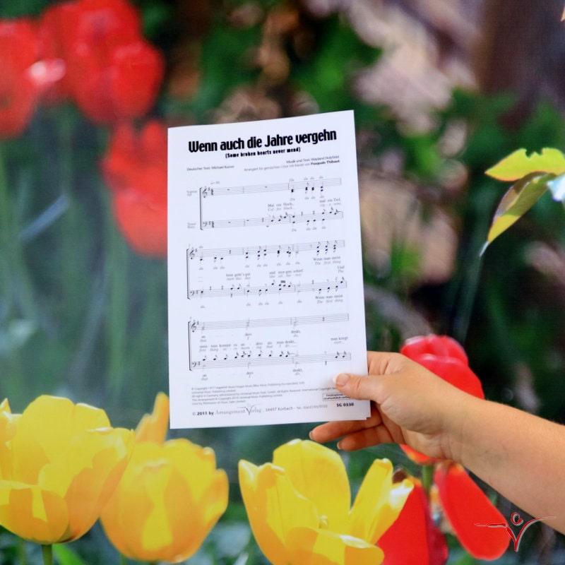 Chornoten: Wenn auch die Jahre vergehn (vierstimmig)