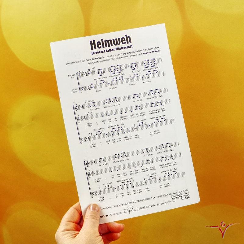 Chornoten: Heimweh (vierstimmig)