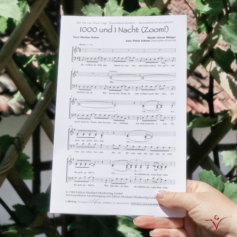Chornoten: 1000 und 1 Nacht (Zoom!) (vierstimmig)