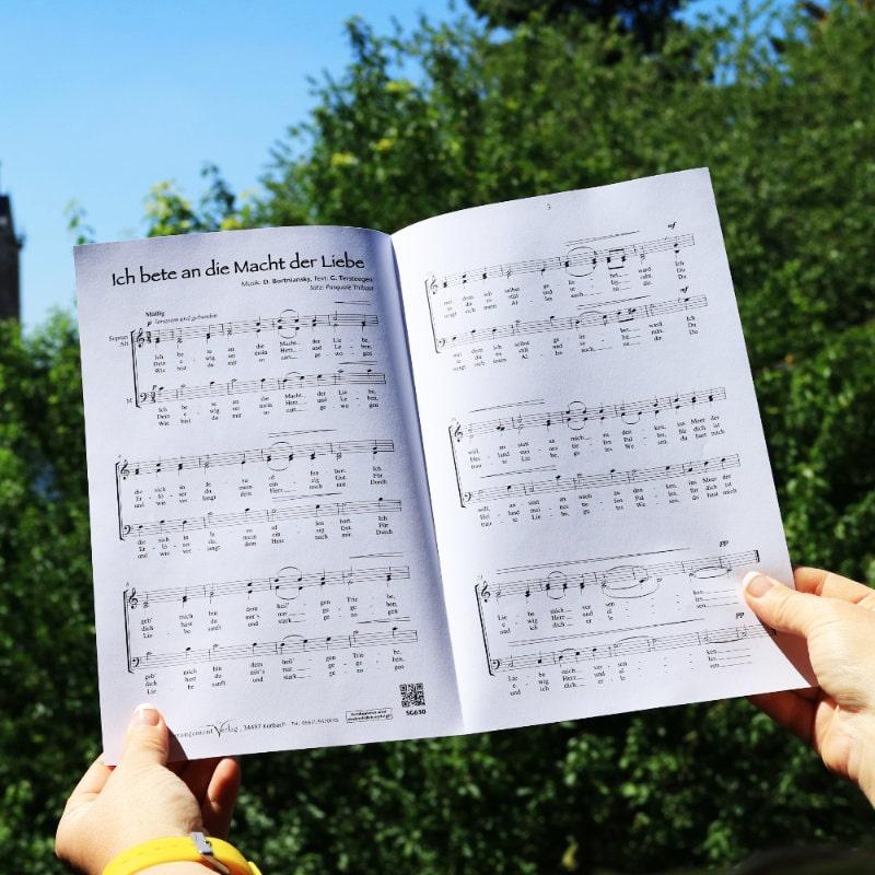 Chornoten: Ich bete an die Macht der Liebe (dreistimmig)