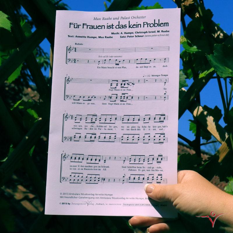Chornoten: Für Frauen ist das kein Problem (vierstimmig)