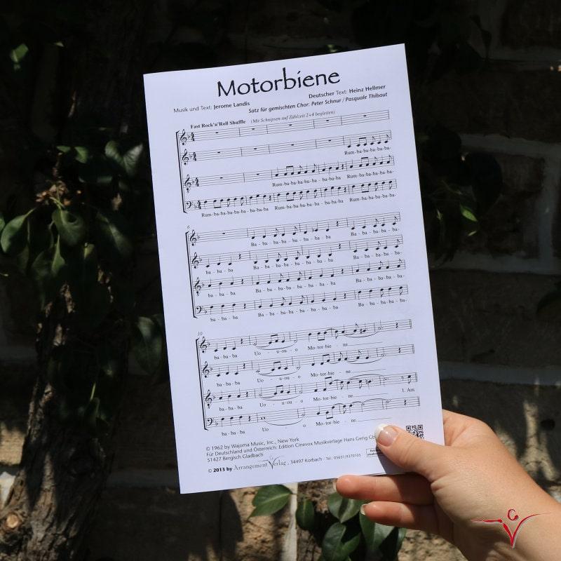 Chornoten: Motorbiene (vierstimmig)