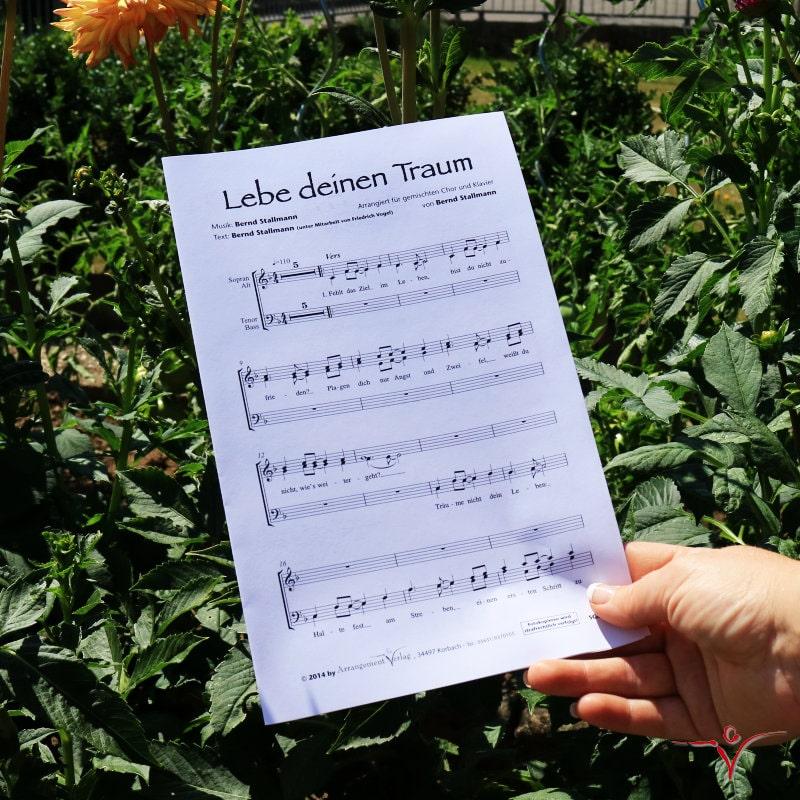Chornoten: Lebe deinen Traum (vierstimmig)