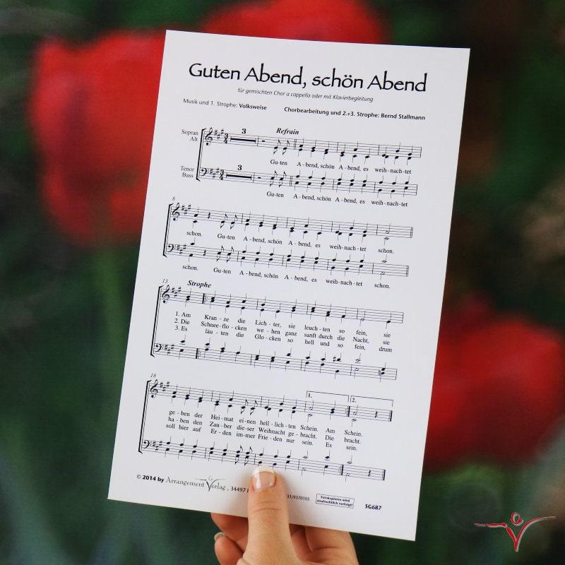 Chornoten: Guten Abend, schön Abend (vierstimmig)