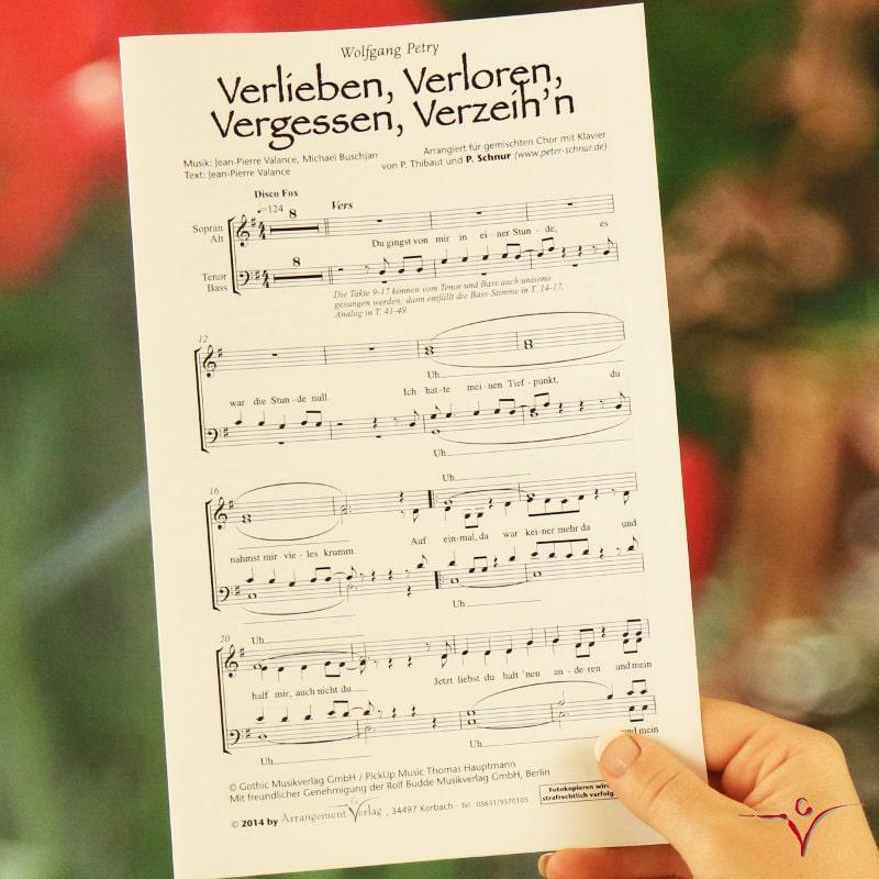 Chornoten: Verlieben, Verloren, Vergessen, Verzeihn (vierstimmig)