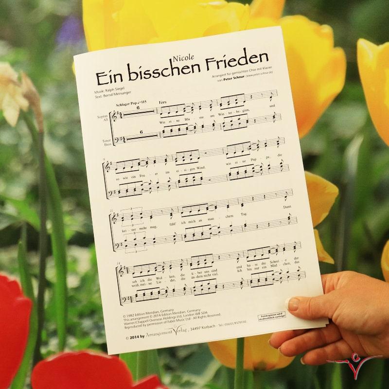 Chornoten: Ein bisschen Frieden (vierstimmig)