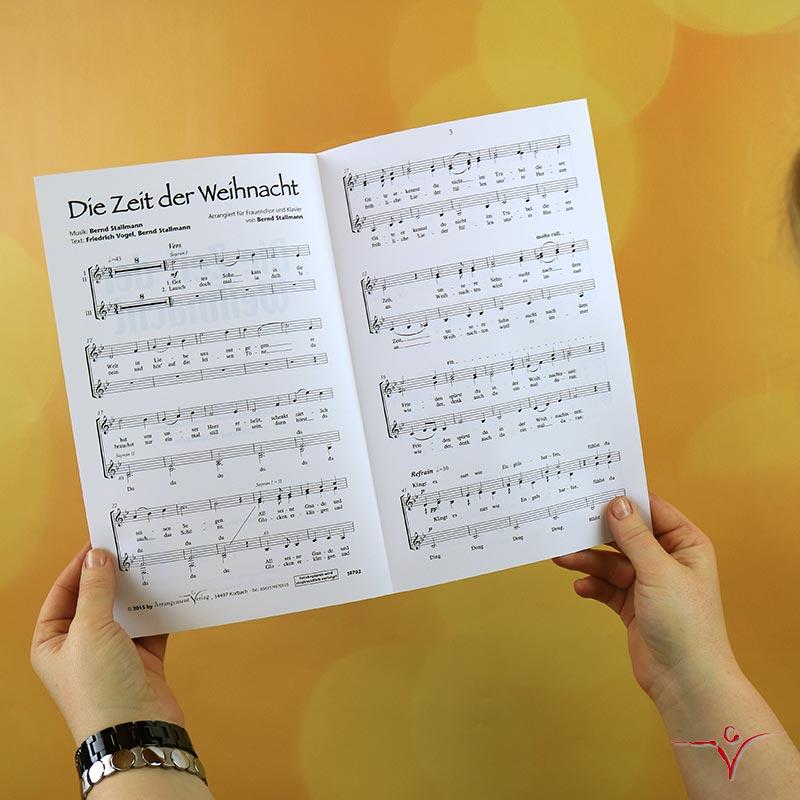 Chornoten: Die Zeit der Weihnacht (vierstimmig)