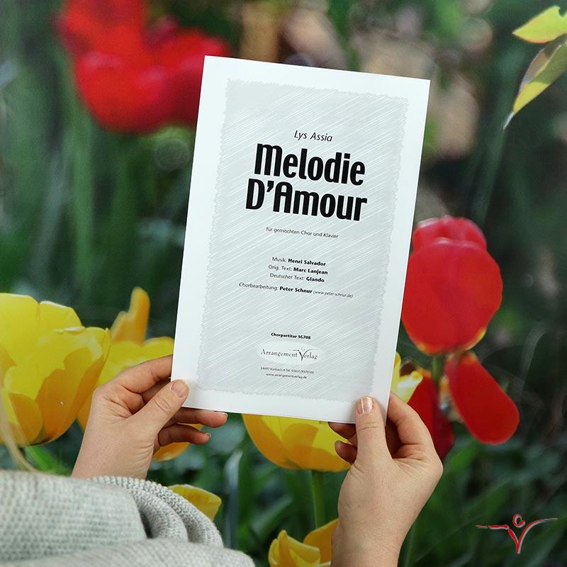 Chornoten: Melodie D'Amour (vierstimmig)