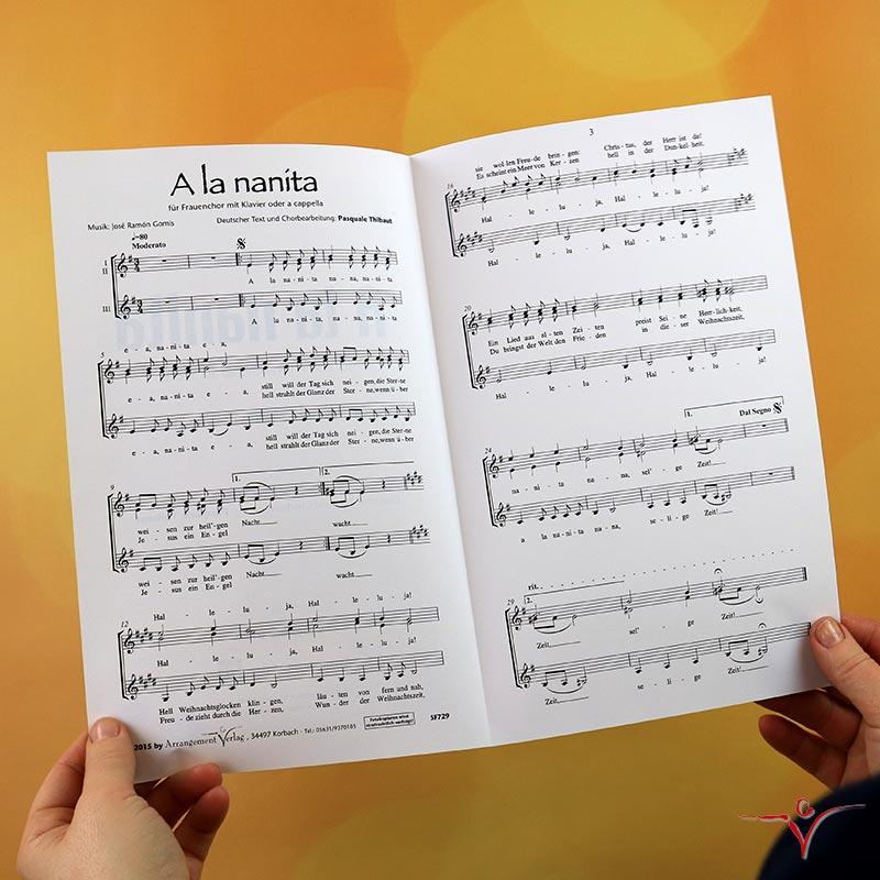 Chornoten: A la nanita (vierstimmig)