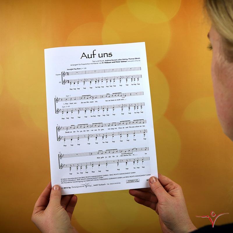 Chornoten: Auf uns! (vierstimmig)