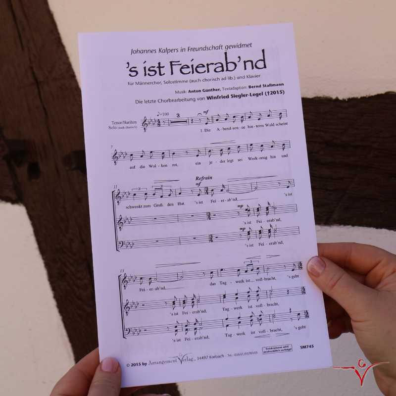 Chornoten: Feierabend ('s ist Feierab'nd) (vierstimmig)