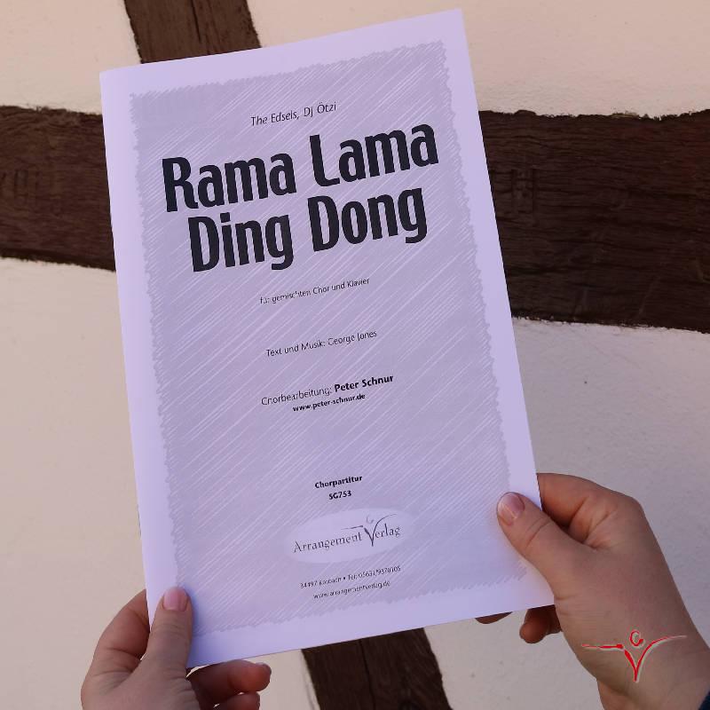 Chornoten: Rama Lama Ding Dong (vierstimmig)