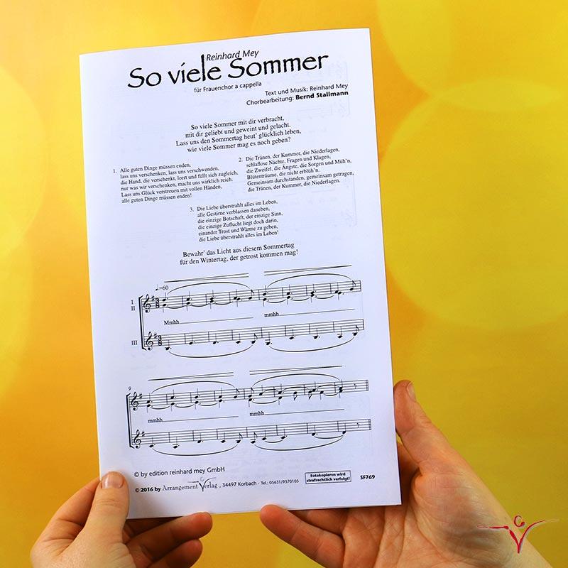 Chornoten: So viele Sommer (vierstimmig)
