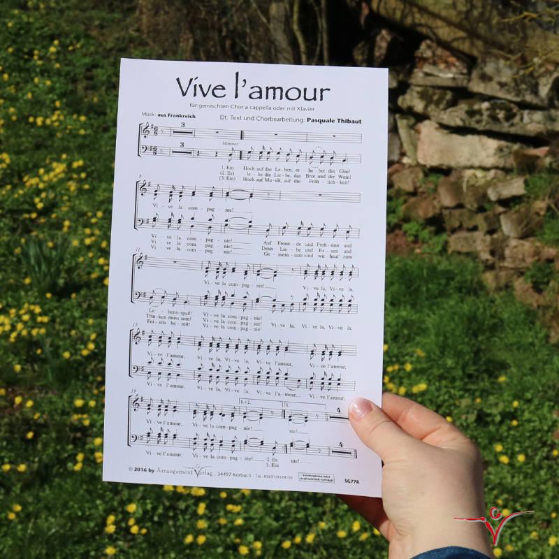 Chornoten: Vive l'amour (vierstimmig)